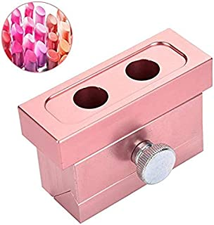 XingYue Direct 12.1 DIY Lipstick Mold Aluminum Alloy Rose Gold Dual Uses Lip Balm Maker Tool (2 Holes) (Style : 2 Holes)