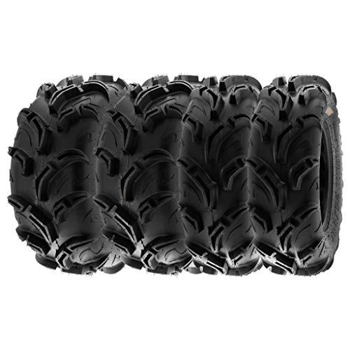 SunF A048 25x8-12 & 25x10-12 ATV UTV All-Terrain Tire Mud Ruota di scorta con omologazione stradale 6PR TL E marchio di prova, set di 4 pezzi
