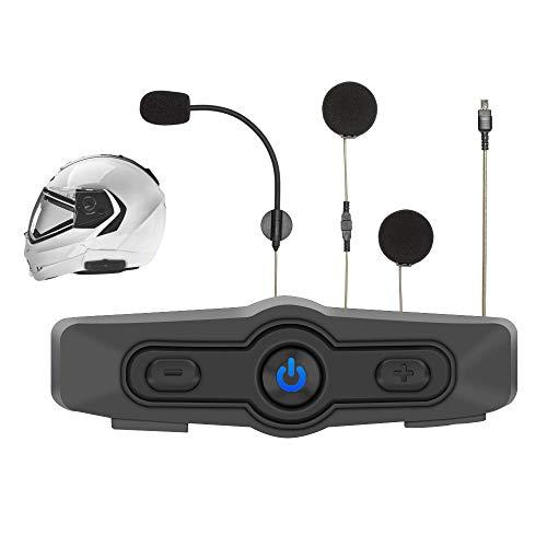 Albrecht BPA 400, 15540, Motorrad Bluetooth Kommunikationseinheit zum Musikhören, Telefonieren und für Navi-Ansagen