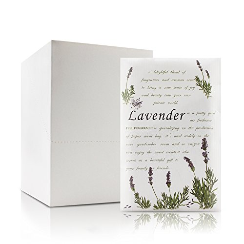 Lavender Scented Sachet for Drawers and Closets - Feel Fragrance Sachets, Lot of 12 (Lavender)