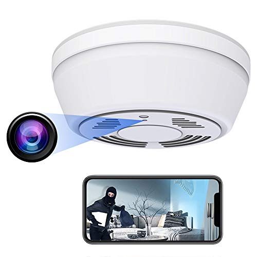 Hidden Camera Smoke Detector - Spy Camera 180 Days Standby Mini HD 1080P WiFi Night Vision Motion Detection Video Recorder Real-Time View Nanny Cam
