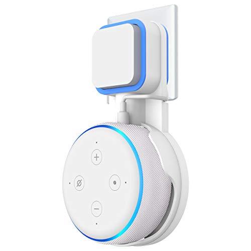 Cozycase Wandhalterung für Dot (3. Generation) Halterung Ständer mit integriertem Kabelmanagement, Ideal für Küche, Bad und Schlafzimmer, Keine Schrauben notwendig (Weiß)