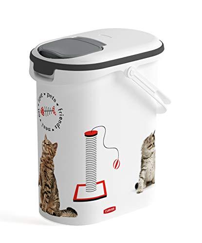 Curver Contenitore per Alimenti da 4 Kg per Gatto, 10 L, Bianco, 19 x 30 x 35 cm