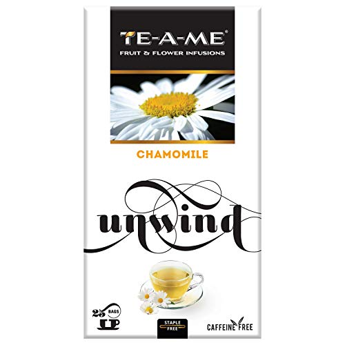 TE-A-ME Chamomile Infusion, 25 Tea Bags (2 Flavored Bags Free)
