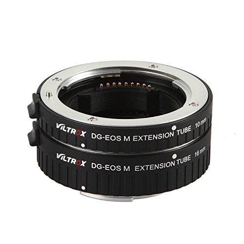 VILTROX Automatica Tubo di Prolunga AF Macro fotografia Set per Fotocamere Canon EOS M EF-M M2 M3 M5 M6 M10 con tubi da 10mm, 16mm