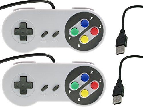 2x Retro GamePad SNES Style USB für PC