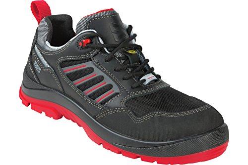 WÜRTH MODYF Sicherheitsschuhe S3 ESD Sport Plus Flexitec schwarz rot: Der multifunktionale Schuh ist in Größe 46 erhältlich. Der zertifizierte Arbeitsschuh ist ideal für Lange Arbeitsalltage.