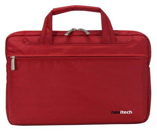 Navitech rote Premium Wasser wiederständige Shock sichere Ultrabook/Laptop/Tablet trage Tasche/Case speziell für das Medion Akoya P2212T und P2211T