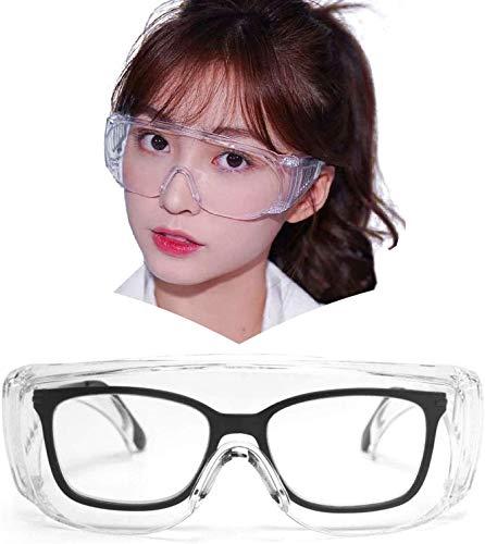 LianSan Gafas de protección antivaho con protección UV para mujer, filtro de luz azul, lentes limpias, montura transparente (BAIYECHUANG)