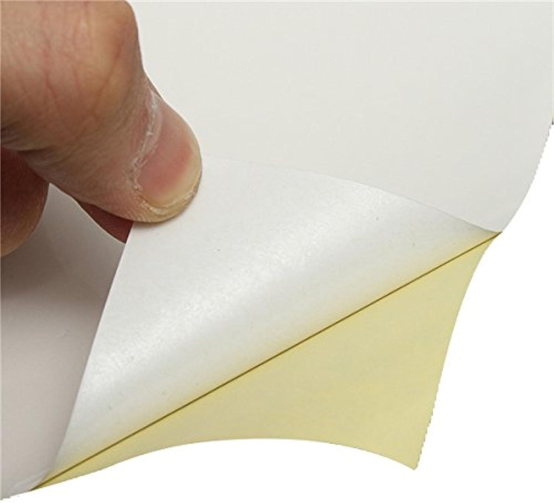 HITSAN 100pcs A4 White Self Adhesive Sticker Paper Sheet Label Laser Inkjet Print One Piece