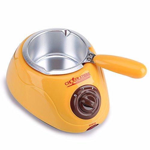 Fontana di cioccolato fonduta di cioccolato caramelle, elettrico per fonduta Singer cioccolato melt pot Melter Machine DIY Kitchen Tool Gift Yellow