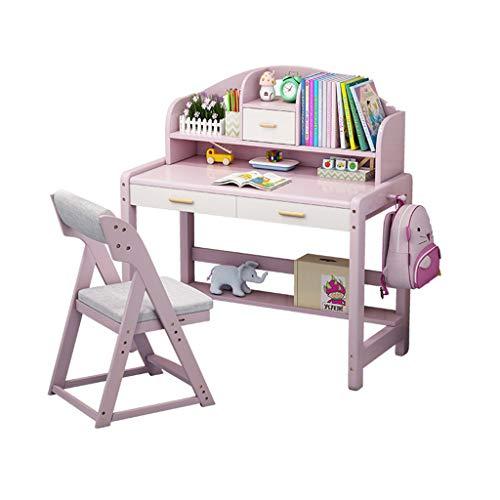 XSN Kinder Sitzgruppe, Kindermöbel Set KinderstudientischMit DREI Schubladen,mit Physischen Haken, Klassifizierten Ablagefächern,Sehr Gut Geeignet Zum Schreiben, Lesen Und Zeichnen