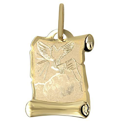 DINASTI Medalla Pergamino Bautizo en Oro de 14 kts