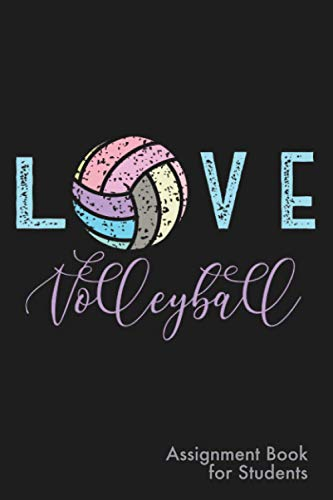 Volleyball Assignment Book for Students: Simple Daily Assignment Notebook with 8 period format for high school, middle school, or junior high volleyball lovers