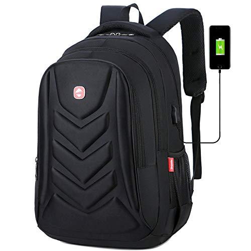 suudada Backpack Multifunctional School Bag Backpack Eva Protective Shell 15 Laptop Bag Waterproof Travel Male School Bag-Black