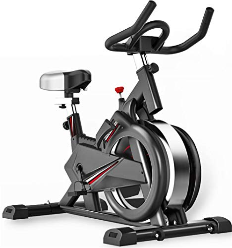 ZJDU Indoor Cycle,Indoor Cycling Bike Fitness Stationary All-Inclusive Flywheel Bicycle, Trainer Fitness Bicycle Stationary,for Gym Home Cardio Workout Machine Training New Version,Black