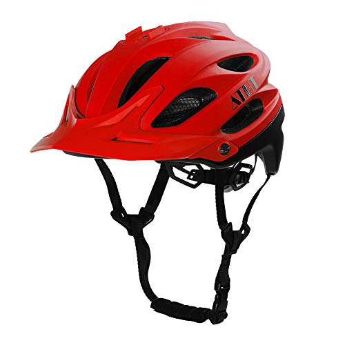 Atphfety Mountain Bike Helmet MTB Road Bicycle Cycling Downhill Helmets with Camera Mount for Adult Men/Women