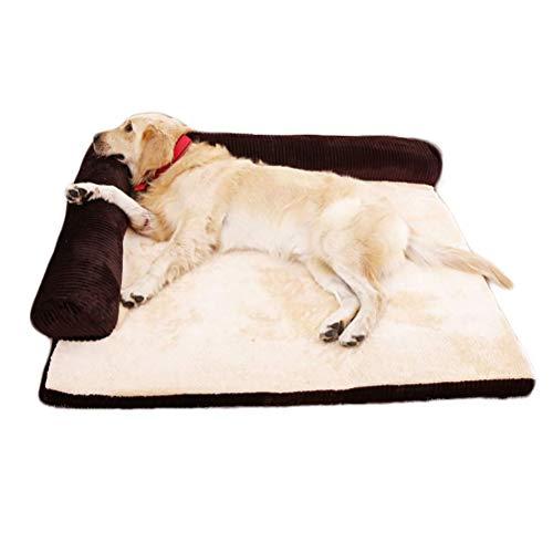 Ti-Fa Cama ortopédica de Espuma viscoelástica para Perros sofá Cama cómodo Cama de Almohada para Mascotas Desmontable y Lavable,Marrón,M:70 * 55 * 15cm