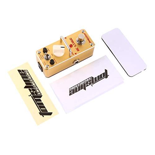 BiaBai Simulador de guitarra acústica de escenario AAS-3 AC Mini pedal de efecto de guitarra eléctrica individual con accesorios de guitarra True Bypass