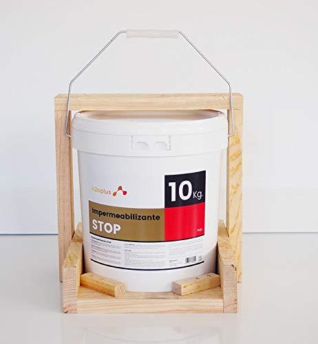 Revestimiento Elástico Impermeabilizante Stop · Pintura para Impermeabilizar parámetros horizontales en Terrazas, Azoteas, Balcones y Tejados · Color Rojo Teja · 10 Kg (8,3 L)