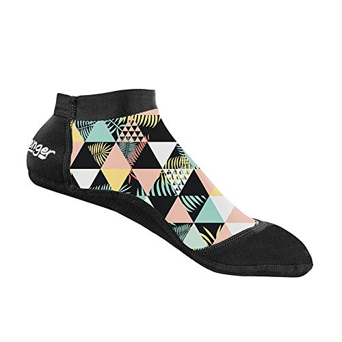 Seavenger SeaSnugs Low-Cut Beach Volleyball Socken, Geometrische Handfläche, Medium