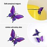 TUPARKA 36 Stück 3D Schmetterlinge Deko Schmetterling Wanddeko Butterfly Wandsticker 3D Wandtatoo Schmetterlinge Balkon Deko (Pink-Lila) - 2