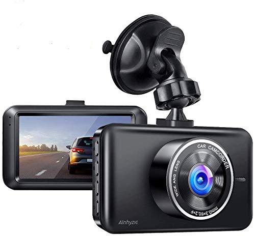 Dashcam Vorne und Hinten Autokamera, 7,6cm LCD, 1080P Full HD Kamera, 170 ° Weitwinkel mit Nachtsicht, G-Sensor, Parküberwachung, Loop-Aufnahm und WDR