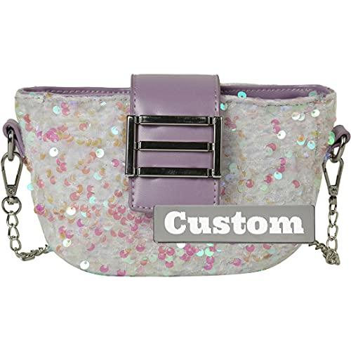 Nombre Personalizado Personalizado PU Classic Hombro de Cuero Bolso para Mujer Cadena de Embrague (Color : Blanco, tamaño : One Size)