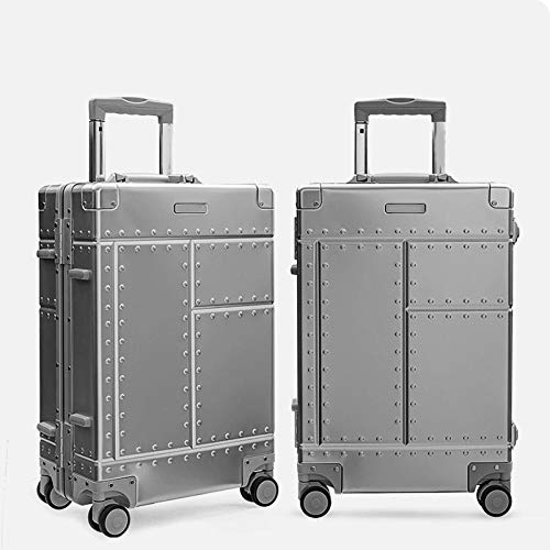 SFBBBO luggage suitcase Rolling Carry Trolly SuitcaseRolling Luggage Trolley Case Hand luggage bag 26' Silvery