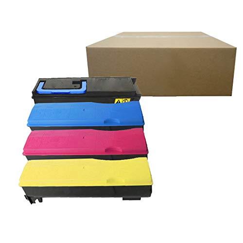 Inktoneram Compatible Toner Cartridges Replacement for Kyocera-Mita TK-582 TK582 FS-C5150DN P6021cdn ([Black, Cyan, Magenta, Yellow], 4-Pack)