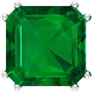 Asscher Cut 6 Ct Lab Created Emerald Earring, Solitaire Gemstone Stud Earring, Bridal Wedding Earring, Partywear Anniversary Earring, Screw back