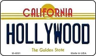 Placa de matr/ícula del Estado de California de 6 x 12 Pulgadas TNND Hollywood