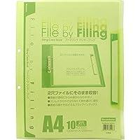 クリアブック FLCB-A4-10CLG ×5 セット