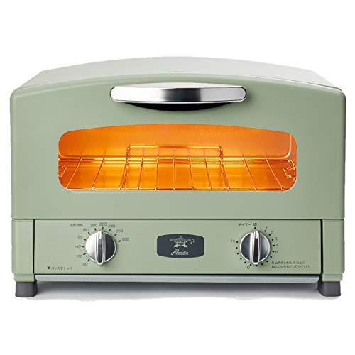 Aladdin (アラジン) グラファイト トースター 2枚焼き 温度調節機能 タイマー機能付き [遠赤グラファイト 搭載] グリーン CAT-GS13B(G)