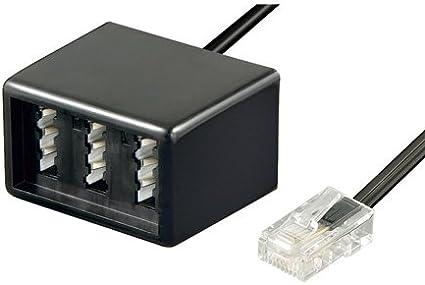 Tpfnet Modular Kabel Telefon Kabel Schwarz 20m Elektronik