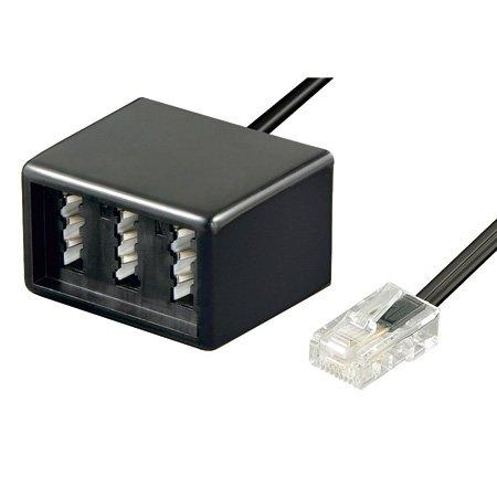 TPFNet Adapterkabel RJ45 Stecker (8P4C) an TAE NFF Buchse, Schwarz