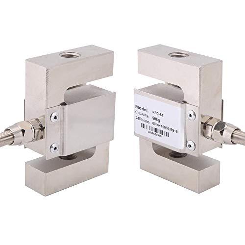 Weighting Sensor, Asixx S Type High Precision Load Cell Scale Sensor Weighting Sensor with Cable(50kg)