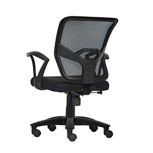 Da URBAN® GRACO Medium Back Revolving Office Chair (Black)...