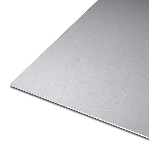 thyssenkrupp Blech aus Aluminium | EN AW-5754 | gewalzt | einseitige Laserfolie || Stärke: 5 mm | Maße: 1500 x 300 mm