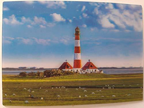 3 D Ansichtskarte Leuchtturm, Postkarte Wackelkarte Hologrammkarte, Leuchttürme