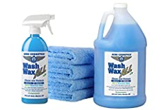 SIMPLY THE BEST WATERLESS CAR WASH. Gently Cleans and Protects while leaving a Non-Stick UV Protective Coating on All Vehicle surfaces. Just Spray on and Wipe Dry. Wash and Wax Anywhere, Anytime, Parking Lots, Garages, Work, School, Apartments, RV Pa...