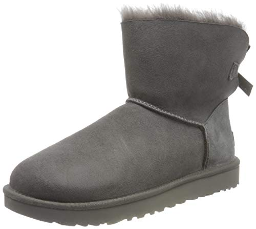 UGG Female Mini Bailey Bow II Classic Boot, Grey, 9 (UK)