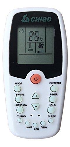 CHIGO Telecomando per condizionatore, Howell, Whirlpool ZH/EZ-01 Aria condizionata, climatizzatore, Pompa di Calore - sostituisce Solo Un Modello uguale