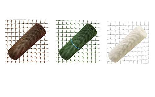 Bonerva Rollo 1 x 30 m de Malla plástica Multiusos | Valla Protectora de Balcones | Malla Protectora de huertos o Plantas (15 mm, Verde)