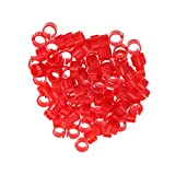 POPETPOP 100pcs Birds Foot Ring Bands - Pigeon Tags Parrot Poultry Leg Bands, Chicks Pigeons Identification Bird Clip Band for Pigeons, Chickens, Lovebirds