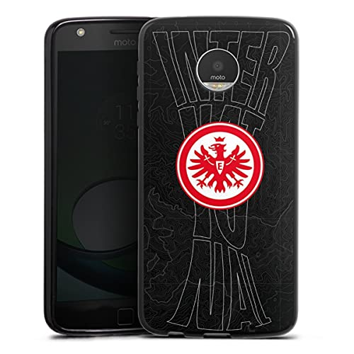 DeinDesign Silikon Hülle kompatibel mit Lenovo Moto Z Play Hülle schwarz Handyhülle Eintracht Frankfurt SGE Pokal