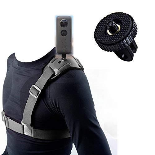 Mojosketch Schultergurt zur Befestigung des Schultergurtes mit einer Schulter Brustgurt für GoPro Hero 8 7 6 5 2018 Session Fusion insta360 DJI AKASO Xiaomi DBPOWER Action Kamera Schultergurt