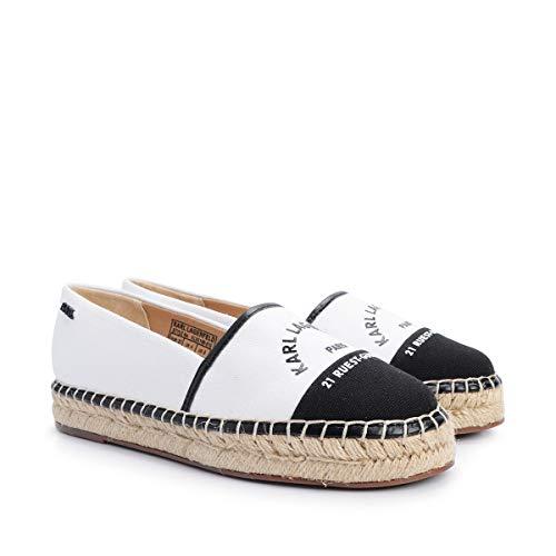 Karl Lagerfeld Kamini Maison Karl Slip on Toile Femme Blanc Noir