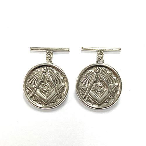 Freemasons Masonic Cufflink 925 Sterling Silver Mens Gift