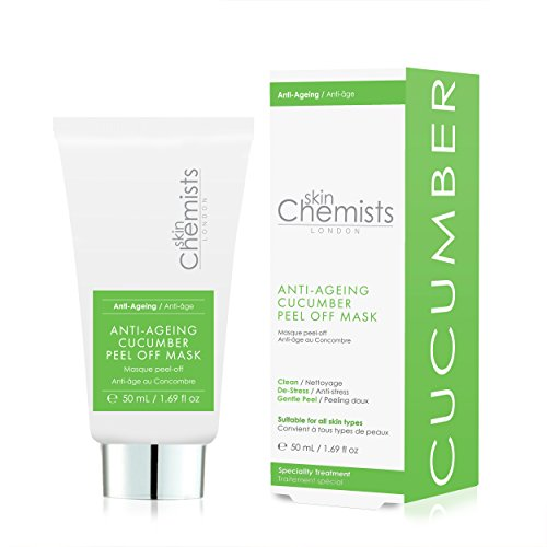 Anti-aging komkommer peel-off masker met onmiddellijke resultaten, perfecte mee-eter- en poriënverwijderaar, dieptereinigend en reinigend & tegen acne, klinisch getest met natuurlijke kamille, 50 ml